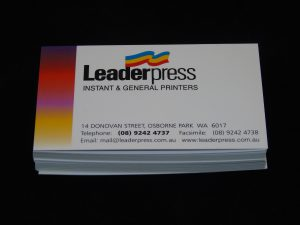 Business Cards Leaderpress Printing Services Osborne Park